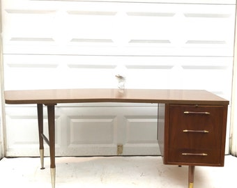 Large Vintage Modern Office Desk