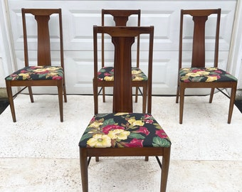 Mid-Century Walnut Dining Chairs by Broyhill