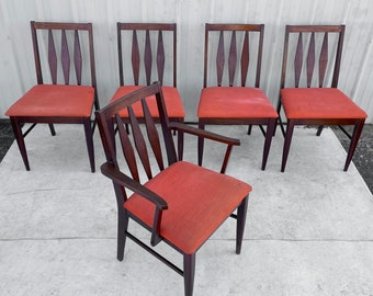 Mid-Century Dining Chairs- Set of Five