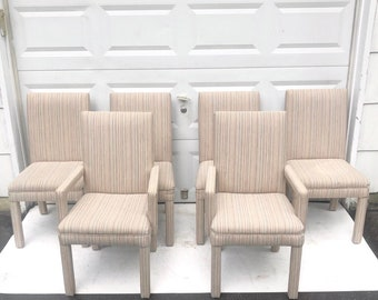 Set of Parson Style Modern Dining Chairs- Set of Six
