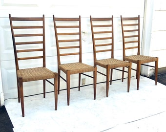 Vintage Italian Rope Cord Dining Chairs