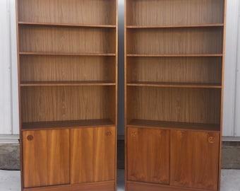 Vintage Modern Teak Bookcases- a Pair