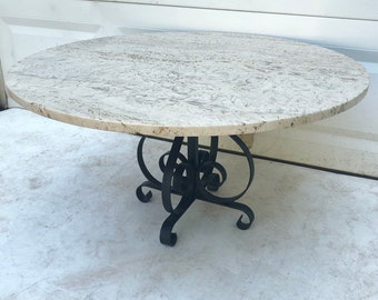 Vintage Marble & Iron Coffee Table