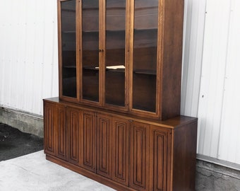 Mid-Century Breakfront Sideboard by Broyhill Sculptra