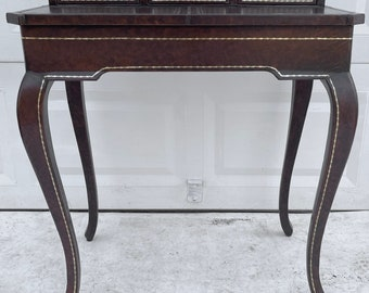 Vintage Leatherette Writing Desk or Vanity