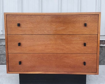 Vintage Three Drawer Chest in Teak