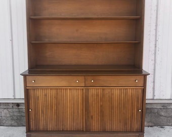 Mid-Century Credenza With Display Shelf
