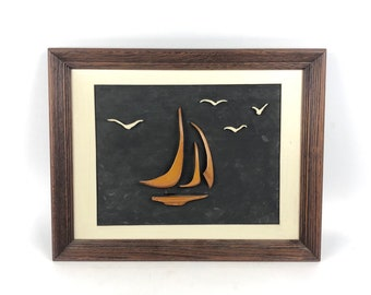 Mid-Century Clipper Ship Wall Art
