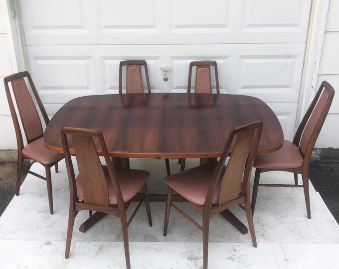 Featured listing image: Niels Koefoed Rosewood Dining Room Set with Six Chairs