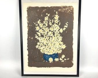 """Vintage Artist Print """"Freed Daisies"""" by Hari"""