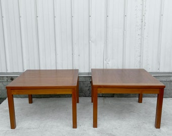 Pair Vintage Danish Teak End Tables from Interform Collection