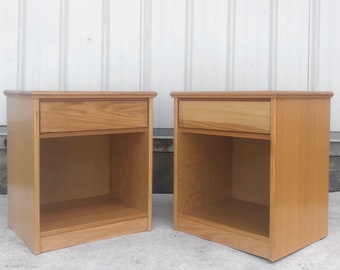 Pair Vintage Modern Nightstands