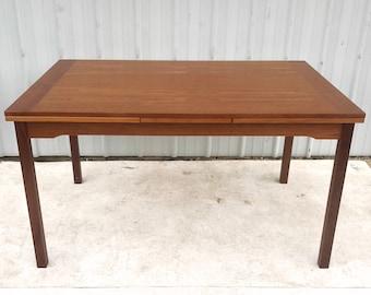 Vintage Modern Teak Draw Leaf Dining Table