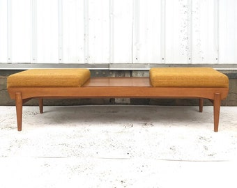 Mid-Century Two Seat Bench or Ottoman Coffee Table