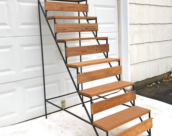 Large Modern Staircase Shelf or Plant Stand