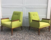 Mid-Century Modern Armchairs- a Pair