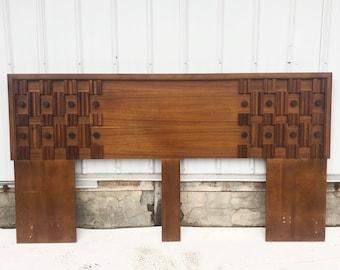 Mid-Century Modern King Size Headboard after Paul Evans