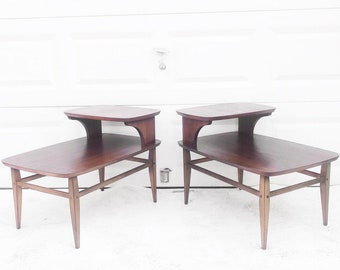 Pair Mid-Century Modern Side Tables by Lane