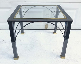 Modern Chrome Side Table by Design Institute of America