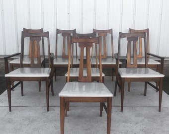 Mid-Century Modern Dining Chairs- Set of Eight