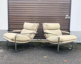 Mid-Century Lounge Chairs attributed to Milo Baughman