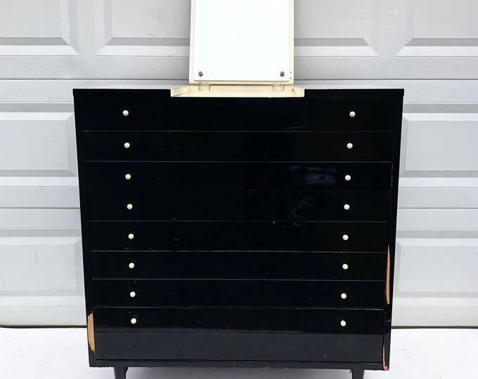 Mid-Century Modern Highboy Dresser by American of Martinsville