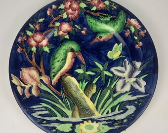 Collectible Maling Plate with Kingfisher