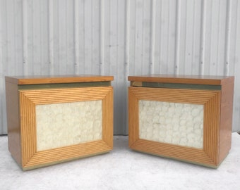 Pair Boho Modern Nightstands