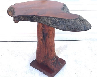 Vintage Live Edge Pedestal Table