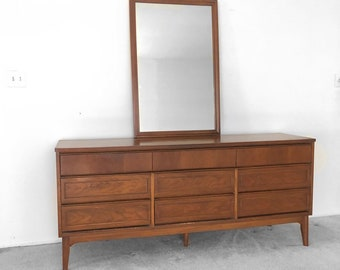Mid-Century Modern Walnut Bedroom Dresser