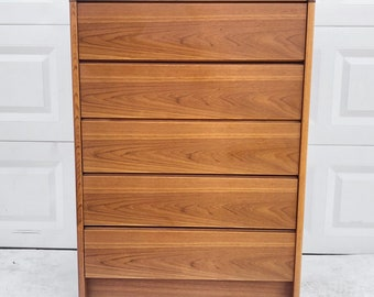 Danish Modern Highboy Dresser