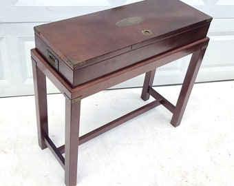 Vintage Modern Campaign Console Table