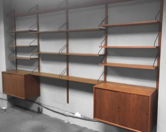 Paul Cadovius Teak Wall Unit- Five Bays for Royal System