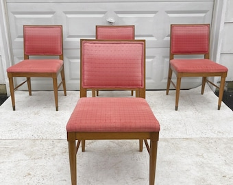 Mid-Century Modern Dining Chairs- Set of Four