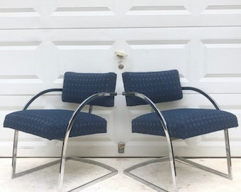 Vintage Modern Side Chairs- set of Four