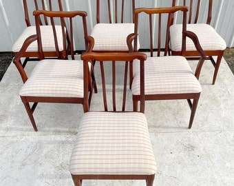 Mid-Century Modern Dining Chairs- Set of Six