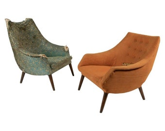 Pair Mid-Century His & Her Side Chairs for Craft Associates