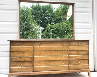 "Heywood Wakefield ""Cadence"" Dresser with Mirror"