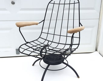 Vintage Homecrest Swivel Lounge Chair