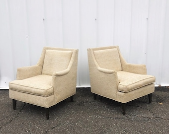 Mid-Century Lounge Chairs -a Pair