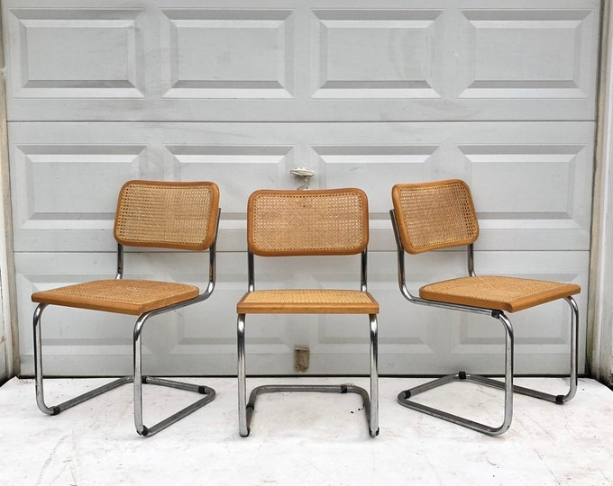 Set Of Three Marcel Breuer Style Dining Chairs