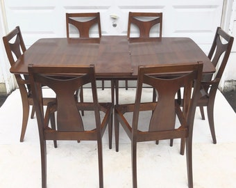 Mid-Century Modern Dining Room Set- Table with Chairs