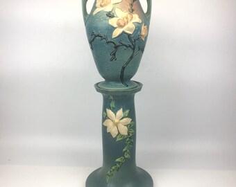 Vintage Vase With Pedestal by Roseville Pottery