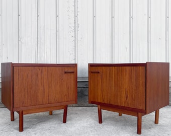 Mid-Century Teak Nightstands- a Pair
