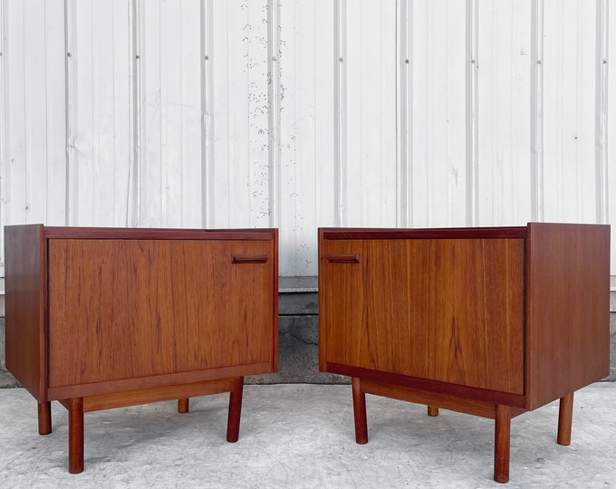 Featured listing image: Mid-Century Teak Nightstands- a Pair