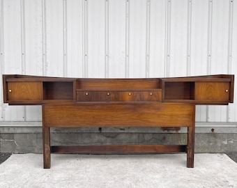 Mid-Century.Storage Headboard- Full Size