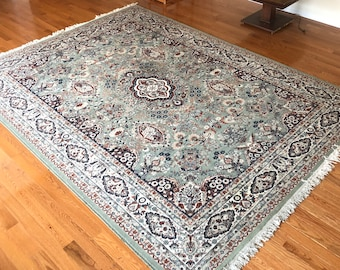 Large Kerman Rug- 100% Wool 8ft by 11ft