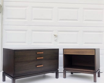 Harvey Probber Nightstands- unique mcm