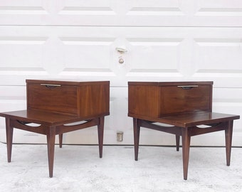 Pair Mid-Century Nightstands by Kent Coffey
