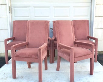 Set of Six Vintage Modern Parsons Chairs